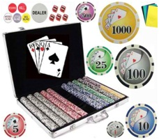 Bluff King Vegas Style Poker Chip Set