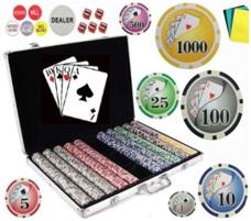 Bluff King Vegas Style Poker Chip Set